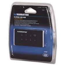 G216 160766 MANHATTAN 7PORT USB HUB W/POWER ADAPT